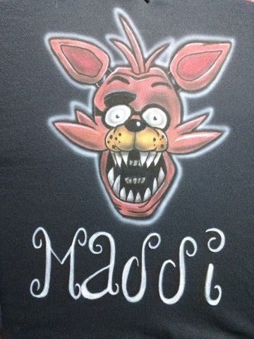 """FOXY"" Five Nights at Freddy's T-Shirt or Hoodie - Perfection Airbrushing"