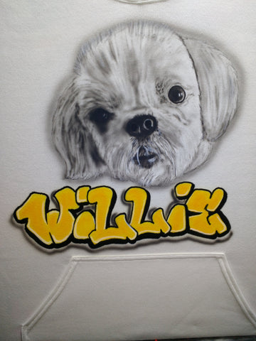 Pet Portrait on TShirt or Hoodie - Perfection Airbrushing