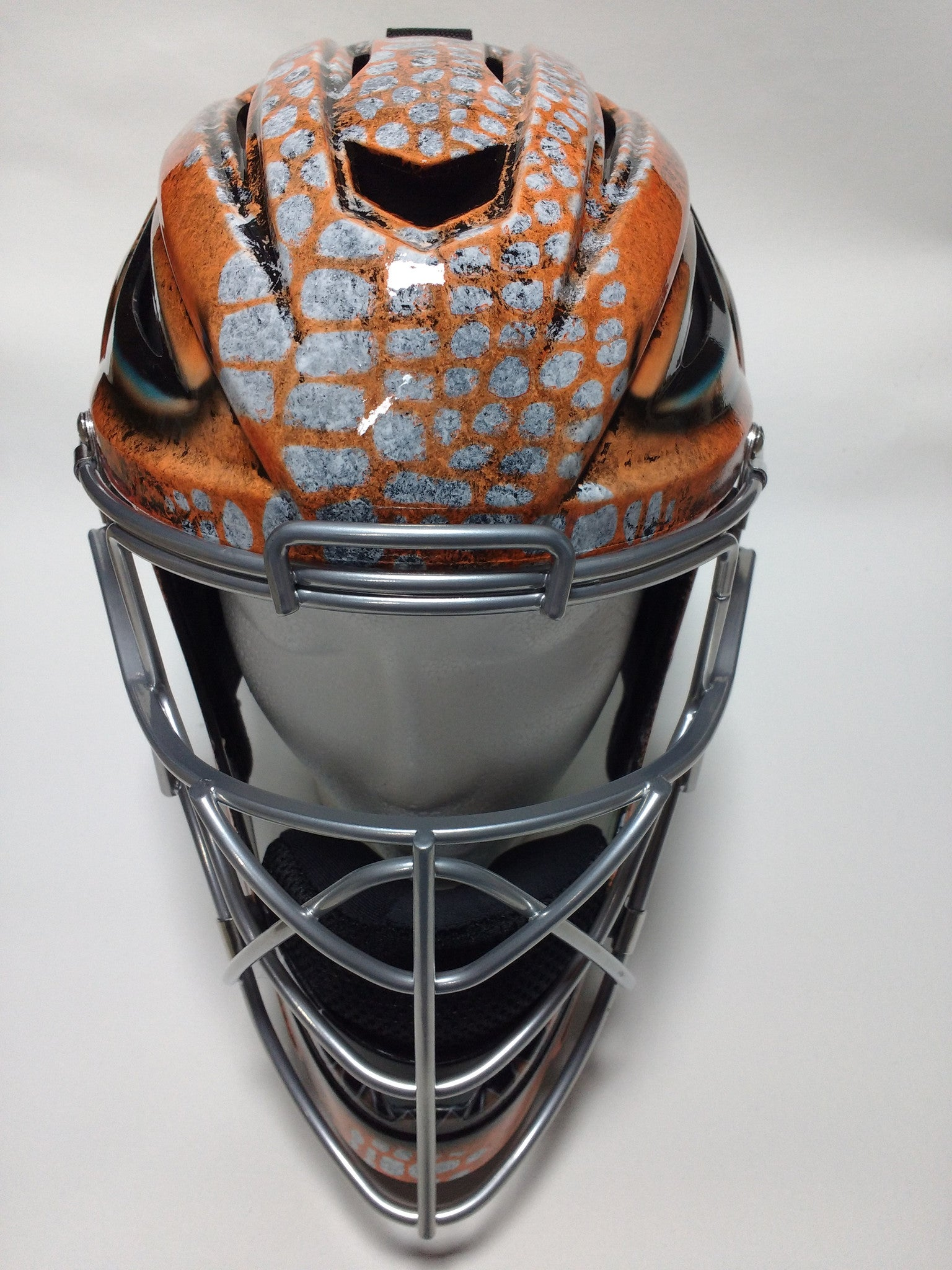 Airbrushed Under Armour Alligator Catchers Helmet Perfection