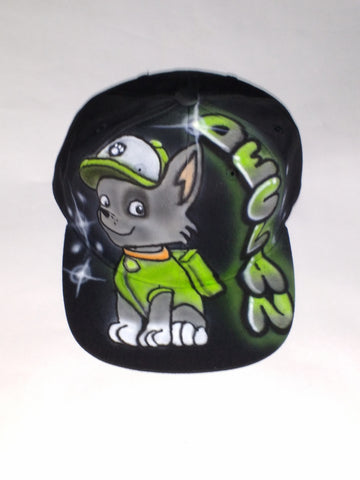 "PAW PATROL ""Rocky"" Snapback Hat youth - Perfection Airbrushing"