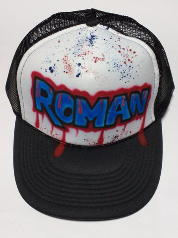 Graffiti Paint Drip Name Hat - Perfection Airbrushing