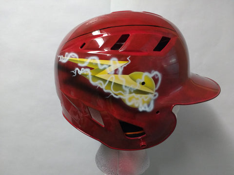 """The Flash"" Batting Helmet Youth or Adult - Perfection Airbrushing"