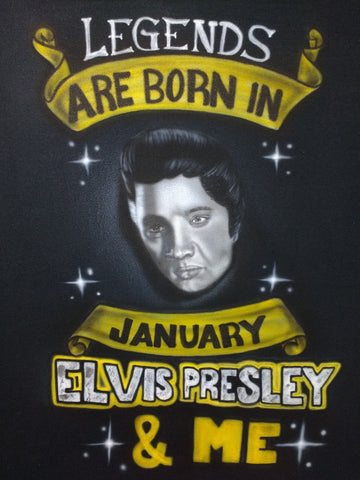 Elvis Portrait Design TShirt or Hoodie - Perfection Airbrushing