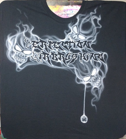 """Speak No Evil"" Smoking Skulls TShirt - Perfection Airbrushing"
