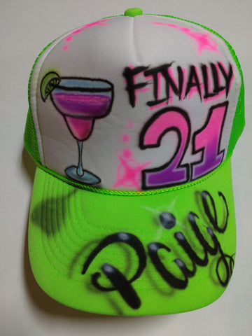 Finally 21 birthday hat