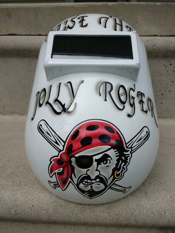 Pirates Themed Welding Helmet - Perfection Airbrushing
