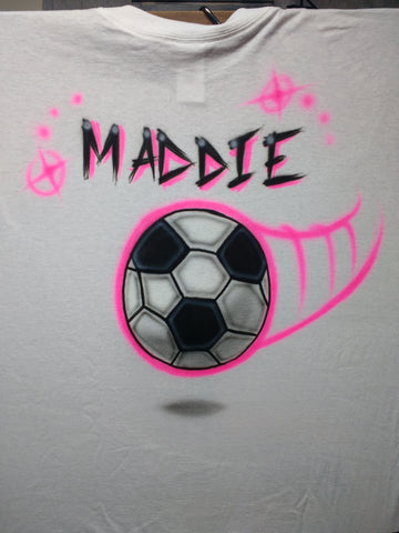 Soccer Personalized sports TShirt or Hoodie - Perfection Airbrushing