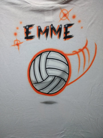 Volleyball Personalized sports TShirt or Hoodie - Perfection Airbrushing