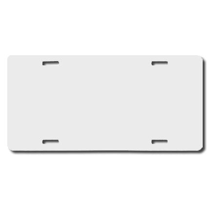 Blank License Plate TAG White - Perfection Airbrushing
