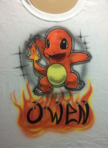 """CHARMANDER"" POKEMON GO Name Design T-Shirt or Hoodie - Perfection Airbrushing"