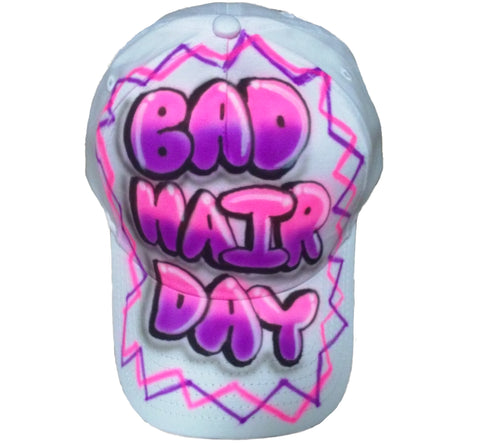 Airbrushed Custom Bad Hair Day hat - Perfection Airbrushing