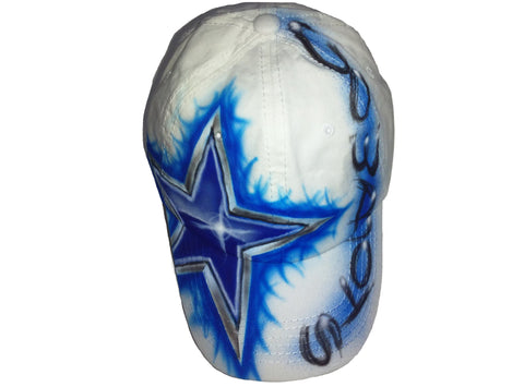Dallas Cowboys Sports Team hat - Perfection Airbrushing
