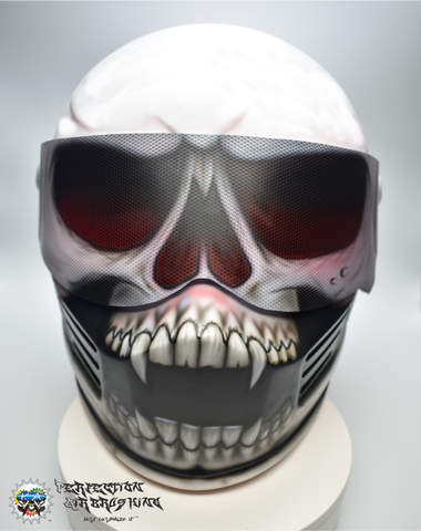 SKULL Simpson Racing or Motorcycle Helmet - Perfection Airbrushing