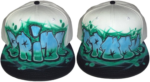 GRAFFITI Bride & Groom hat SET - Perfection Airbrushing