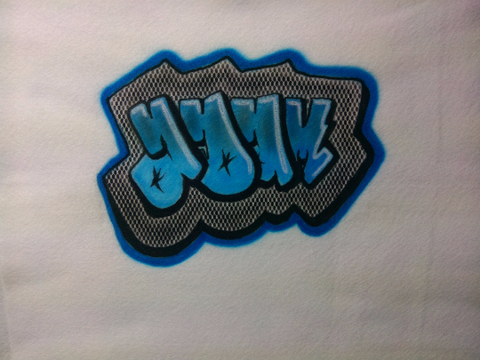 Airbrushed Custom Graffiti Name Design TShirt or Hoodie Youth or Adult - Perfection Airbrushing