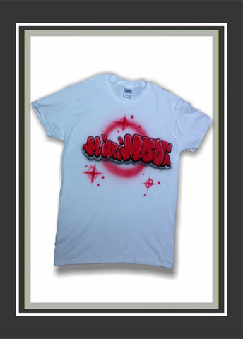 dd2adaa28 Airbrushed Custom Graffiti Name HIP HOP Style T-Shirt or Hoodie -  Perfection Airbrushing