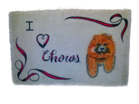 I Heart Chows on Microfiber Memory Foam Mat - Perfection Airbrushing