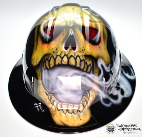 Inner Demons Full Brim Style Hard Hat - Perfection Airbrushing