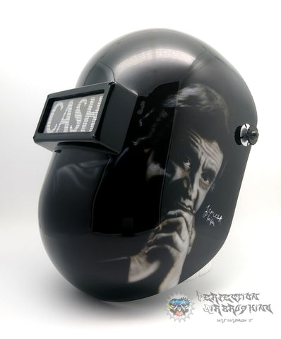 Johnny Cash 2 Themed Welding Helmet