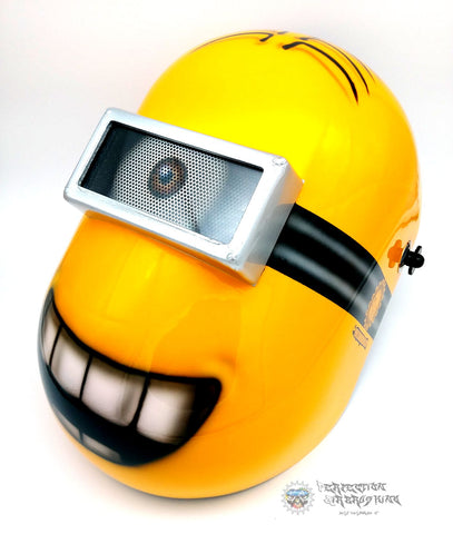 Airbrushed MINION WELDING Helmet - Perfection Airbrushing
