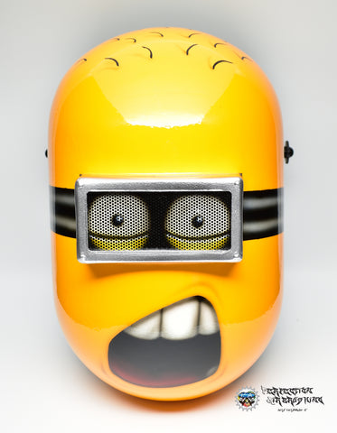 "MINION Jerry ""Whaat?!"" WELDING Helmet - Perfection Airbrushing"