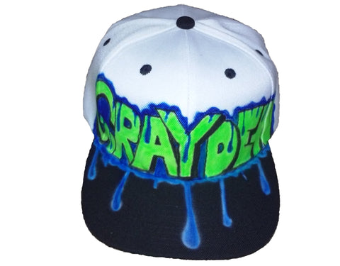 Airbrushed Paint Dripping Name hat