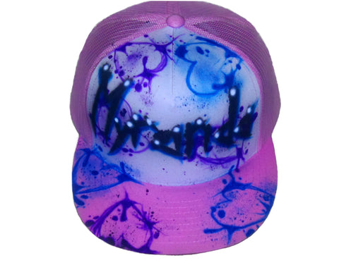 Airbrushed Paint Splatter Hearts hat - Perfection Airbrushing