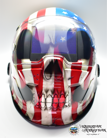 Patriot Skull ESAB Sentinel A50 WELDING Helmet - Perfection Airbrushing