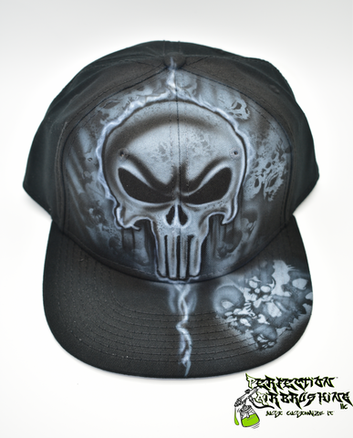 Punisher Skull Snapback Hat - Perfection Airbrushing