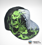 Airbrushed Smoking Skulls Hat - Perfection Airbrushing