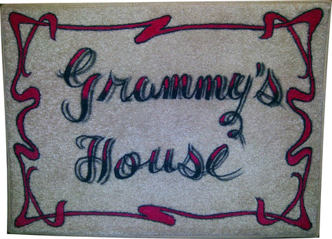 Grandma's House on Microfiber Memory Foam Mat - Perfection Airbrushing