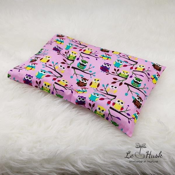 Le Husk Bean Sprout Husk Anti Flat Head Pillow - Pink Owl Anti Flat Head Pillow,Pillow
