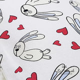 Bunny and Hearts Pillow (Organic, USA Import)