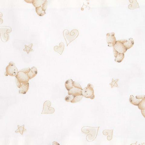Cream Teddy Bear Baby Bolster