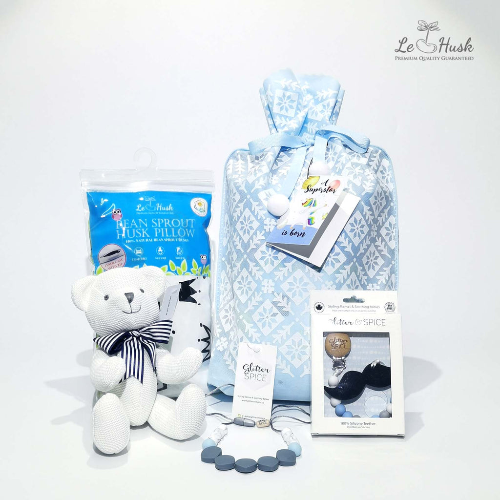 Mom & Baby Teether Gift Bag - Boy