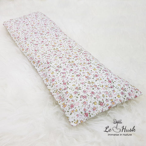 Flora White Baby Pillow