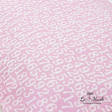 Numbers in Pink Bolster