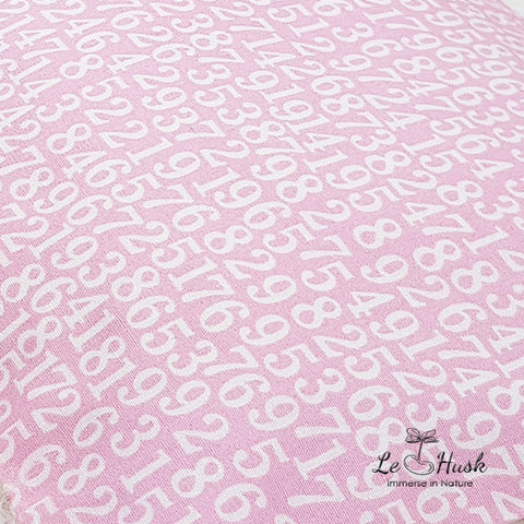 Numbers in Pink Baby Bolster