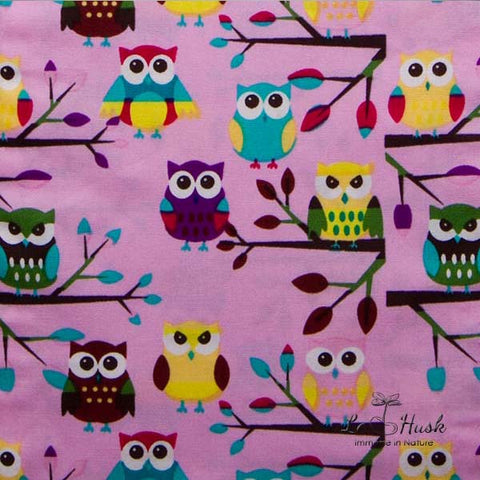 Pink Owl Baby Pillow