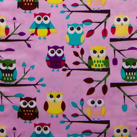 Pink Owl Baby Bolster