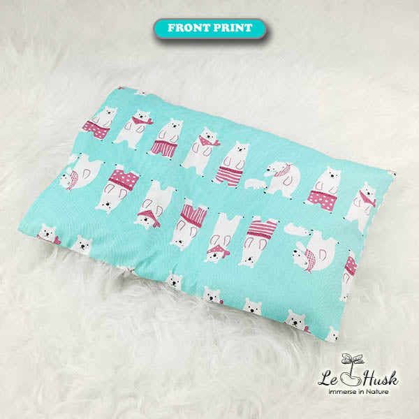 Polar Bear (Turquoise) Anti Flat Head Pillow