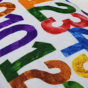 COLORFUL CRAYON NUMBER BOLSTER (IMPORTED)