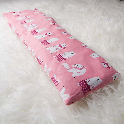 Polar Bear (Pink) Baby Pillow
