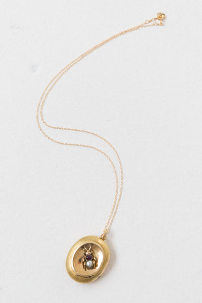 VICTORIAN 14K GOLD INSECT LOCKET | VINTAGE