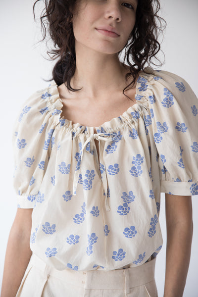 ELAINA TOP | SHIBORI SILK COTTON