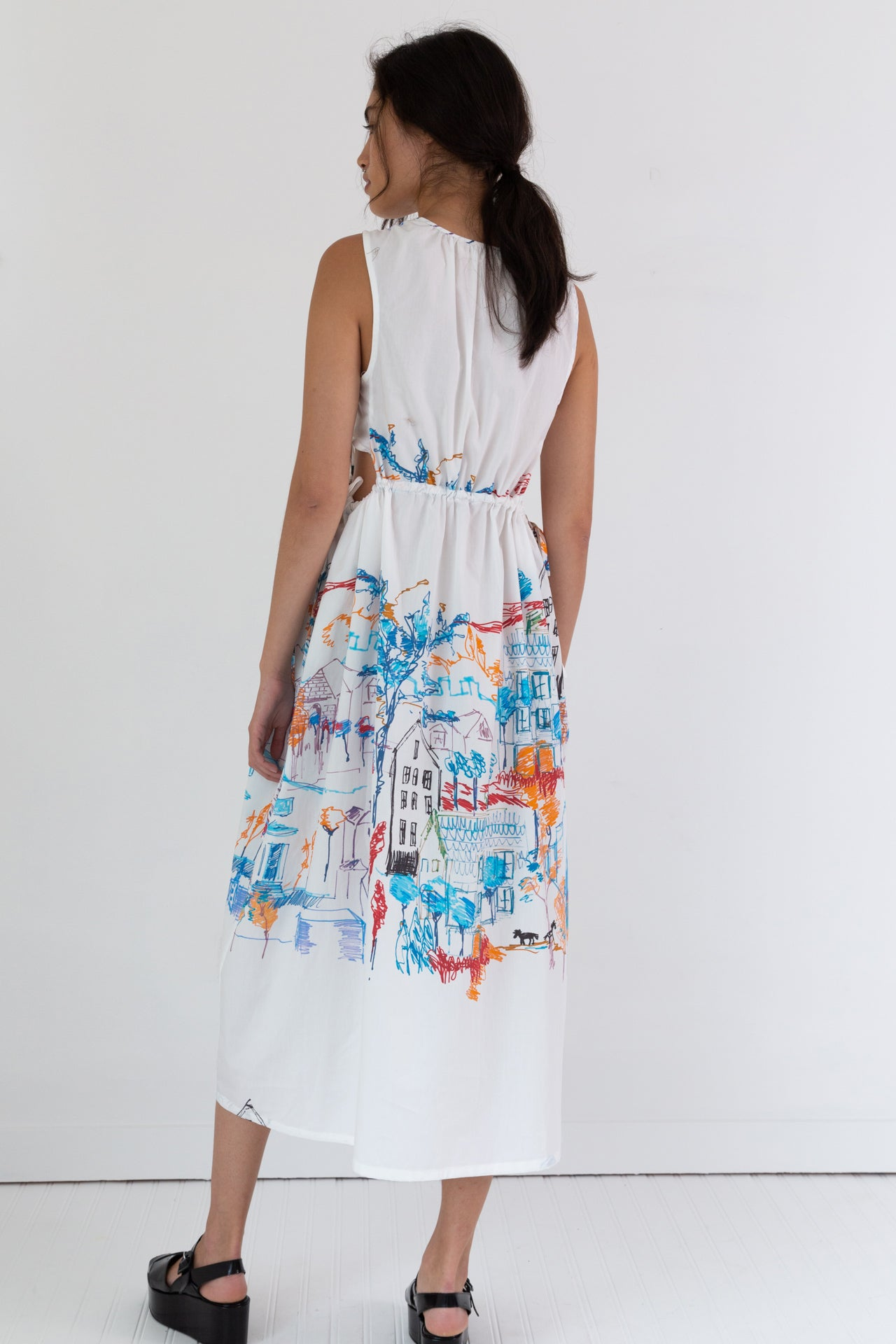 GOA DRESS | CITY PRINT POPLIN