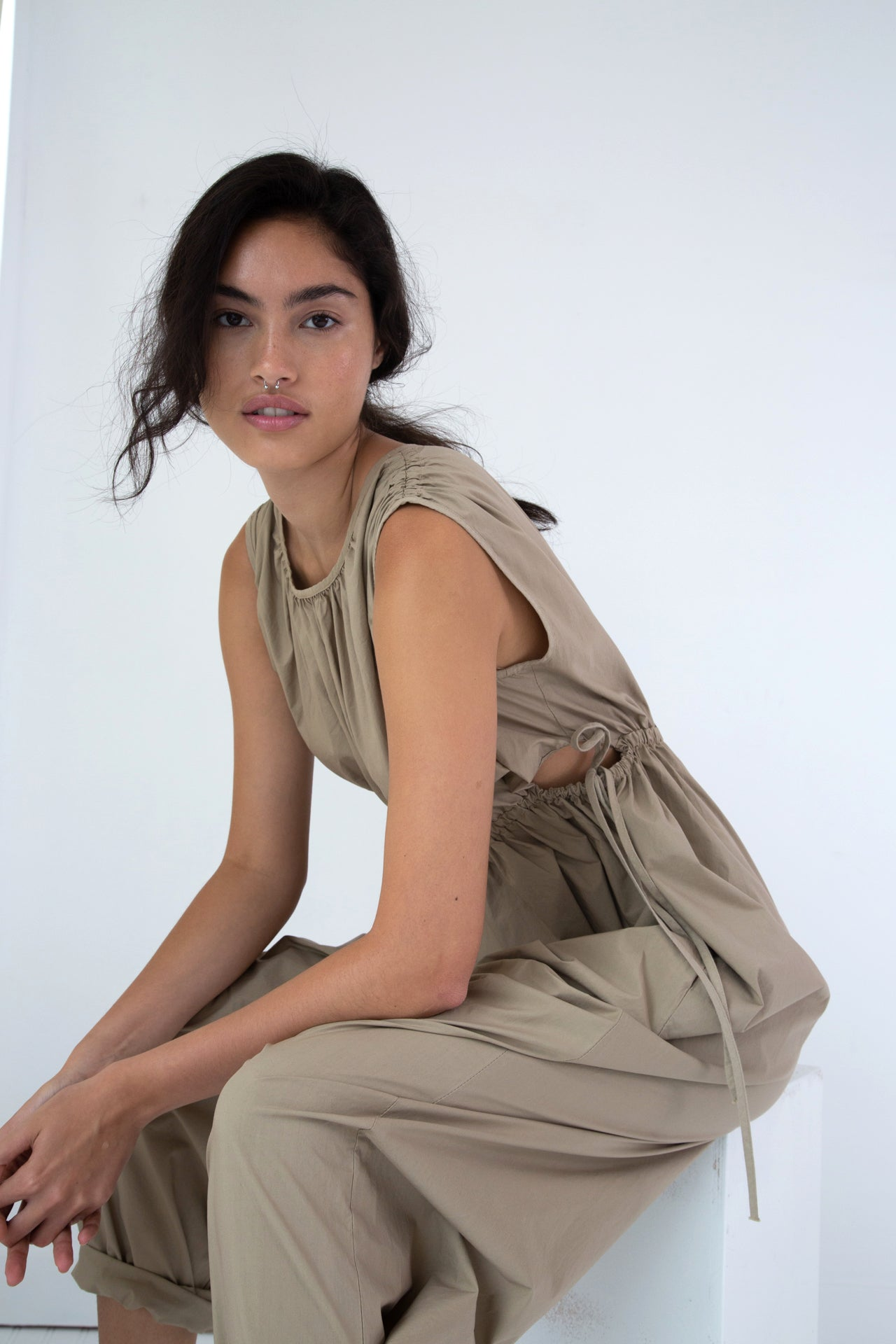 GOA JUMPSUIT | KHAKI COTTON POPLIN