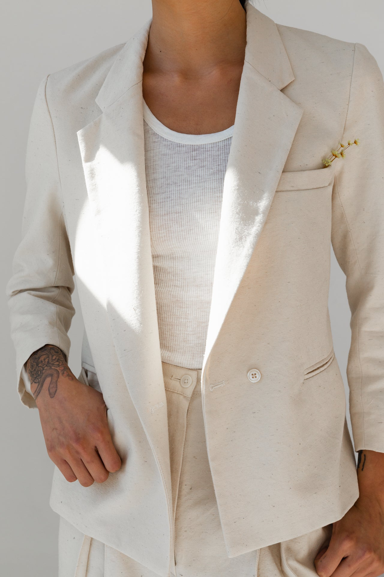 JOSHUA BLAZER | NATURAL SLUB SILK COTTON