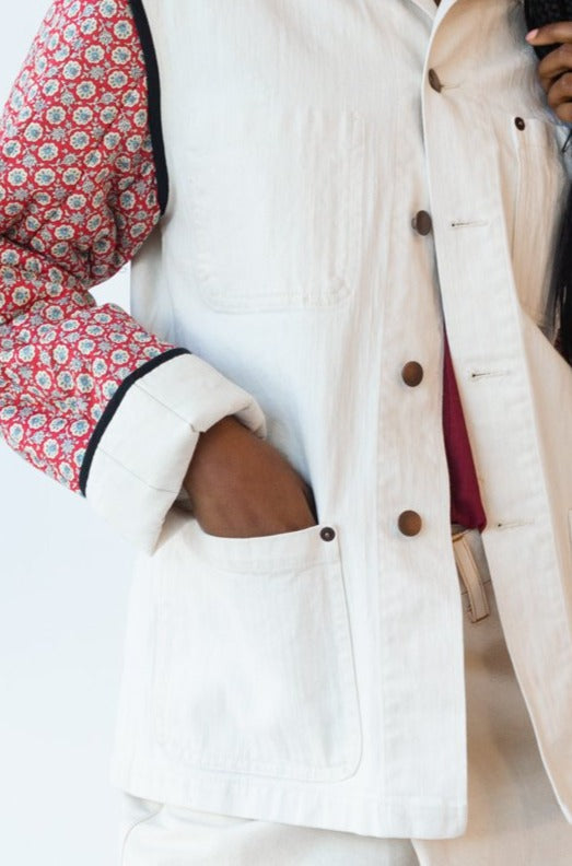 KRASNER JACKET | IVORY DENIM