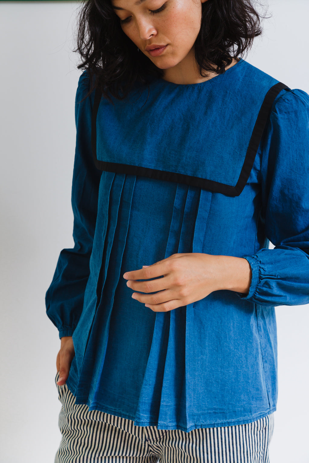 LISA TOP | WASHED INDIGO CHAMBRAY